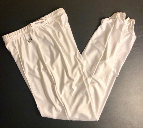 NWT! GK Elite Men's Gymnastic Competition Stirrup Pants White Sz AL - Outlet Values