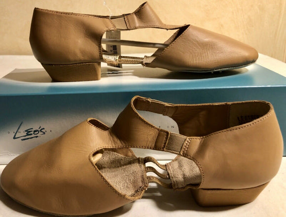 LEO'S DANCEWEAR AMORE JAZZ SANDAL SIZE ADULT 6 TAN STYLE #7216 - Outlet Values