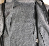 WAS $52.95 NWT! GK ELITE FITTED ICE SKATE JACKET GRAY FLEECE VELVET ZIP ADULT XS - Outlet Values