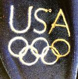 NWT! GK Elite Gymnastics Dance Blue Velvet USA OLYMPIC LEO Metallic Stars AXL - Outlet Values