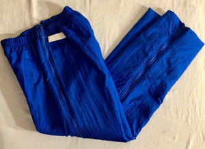 WAS $73.95 NWT! GK ELITE BLUE FLEECE LINED ZIP-OFF WARMUP PANTS ADULT S - Outlet Values