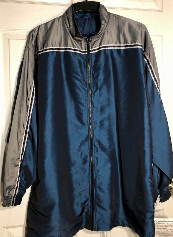 GK ELITE WARM UP JACKET MENS X-LARGE BLUE IRIDESCENT NYLON Sz AXL WAS $85.95! It - Outlet Values