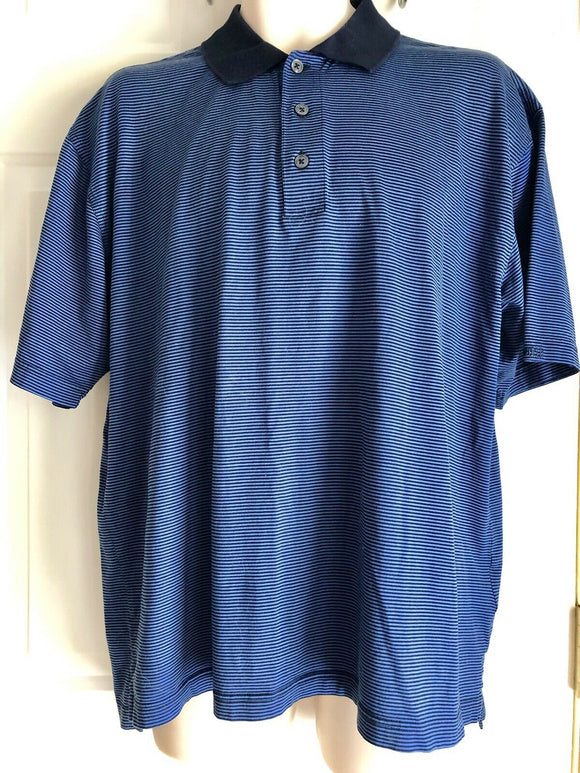 ASHWORTH LARGE GOLF SHIRT POLO SHIRT STRIPES MENS SHORT SLEEVE - Outlet Values