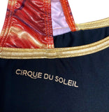 NWT! Cirque Du Soleil GK ELITE Gymnastics Leotard Sequin Black/Gold/Red Size AL - Outlet Values
