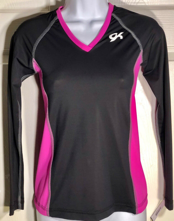 WAS $39.99 NWT! GK ELITE DRY TECH BLACK PINK PULLOVER TRAINING SHIRT ADULT S - Outlet Values