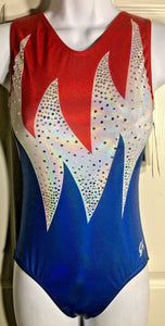 WAS $59.99 NWT! GK Elite BLAZING FREEDOM REPLICA ATHENS 2004 TANK GYM LEO AXS - Outlet Values