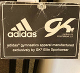 WAS $47.99 NWT! ADIDAS GOLD FOIL BLACK STRIPES GYMNASTICS WORKOUT TANK LEO AXS - Outlet Values