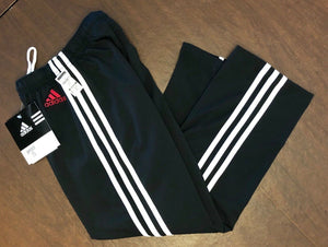 WAS $126.95 NWT! ADIDAS GK ELITE BLACK DRY TECH WARM UP PANTS SIZE CHILD M - Outlet Values