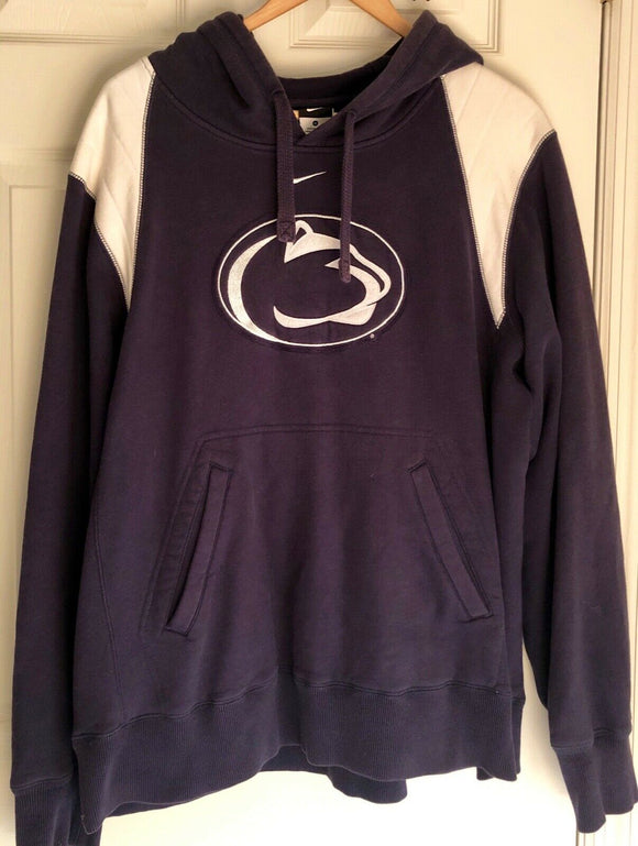 NIKE PENN STATE NITTANY LIONS PULLOVER HOODED SWEATSHIRT Navy/White MEN'S M - Outlet Values