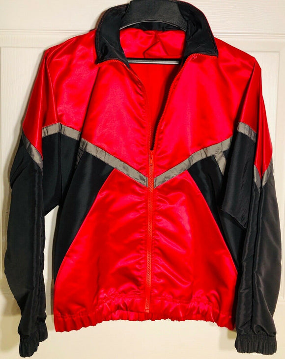 GK Elite WARM UP JACKET MENS SMALL IRIDESCENT RED BLACK NYLON Sz AS WAS $74.95! - Outlet Values