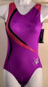 NWT Simone Biles E3287-no Sequins-GK Purple Wonder Magenta Holotek Tank Leo AS - Outlet Values