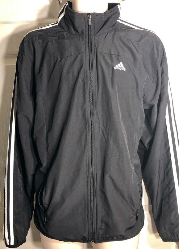 Adidas Men's Climaproof Clima365 Black Lightweight Windbreaker Rain Jacket Sz M - Outlet Values