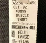Was $21.95 NWT! GK Elite Men's Sleeveless Muscle Gym Fitness Shirt Black AL - Outlet Values