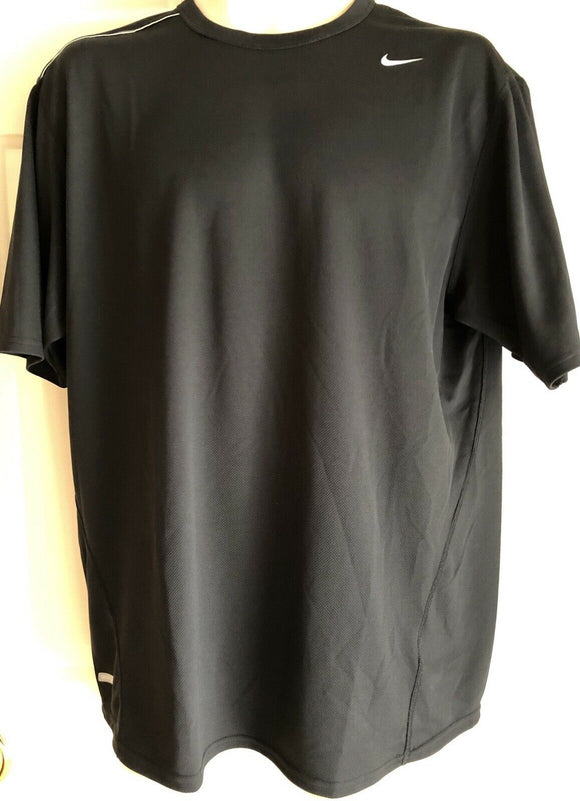 NIKE DRI-FIT UV MENS BLACK WORKOUT SHIRT SIZE L - Outlet Values