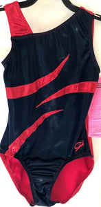 GK Elite ASYM TANK CHILD LARGE NAVY RED MYSTIQUE GYMNASTICS DANCE LEOTARD CL - Outlet Values