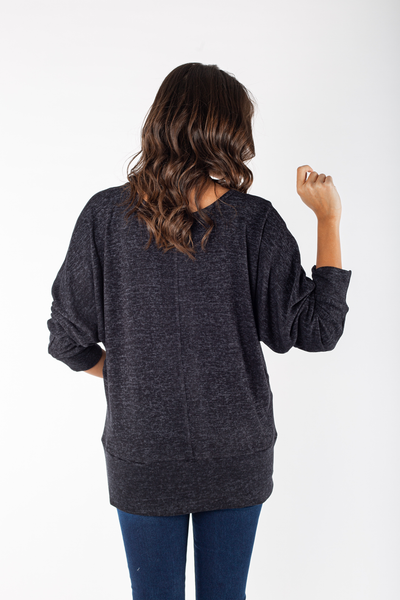 Knitted Raglan Sleeve Top - 140012