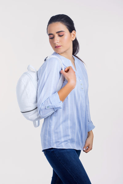 Cotton Relaxed Striped Blouse - 110041