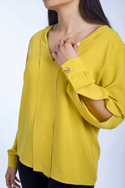 Open Sleeves Blouse - 110053