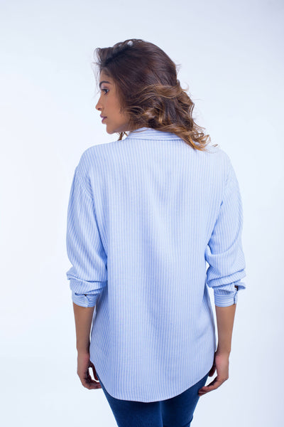 Loose Striped Blouse - 110044
