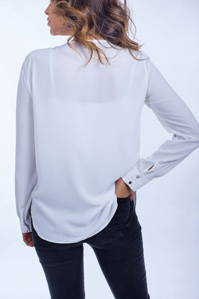 Silver Buttons Pleat Shirt - 110045