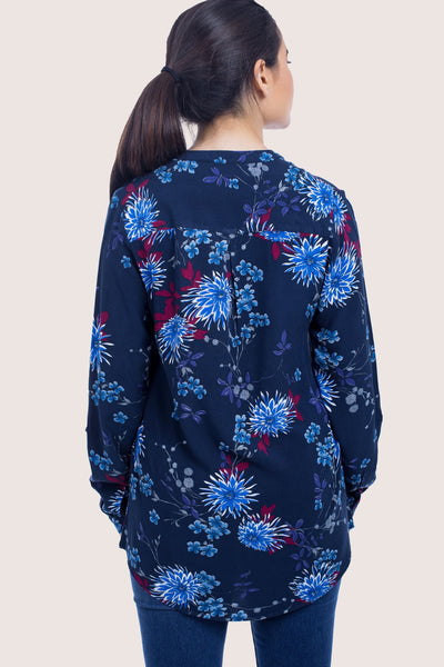 Chinese Collar Blouse - 110040