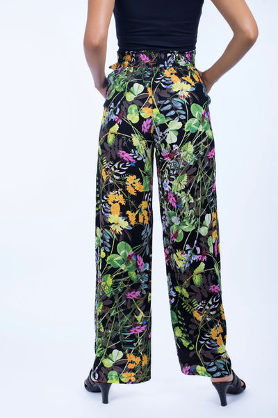 Wide Pant With Tie Bow - 120021