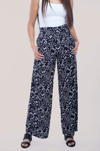 Wide Pant With Tie Bow - 120020