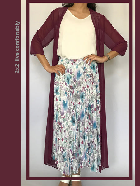 Chiffon Long Jacket  - Model 12