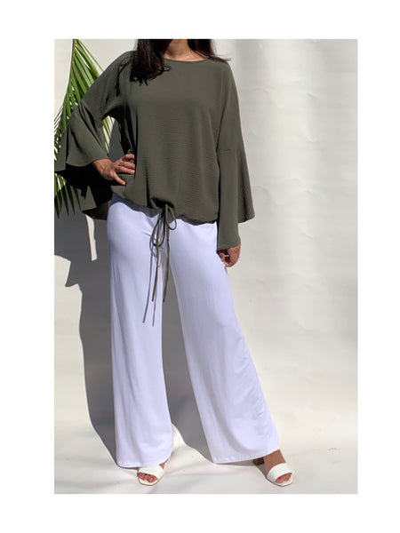 Crepe Wide Comfy Blouse - Model 42