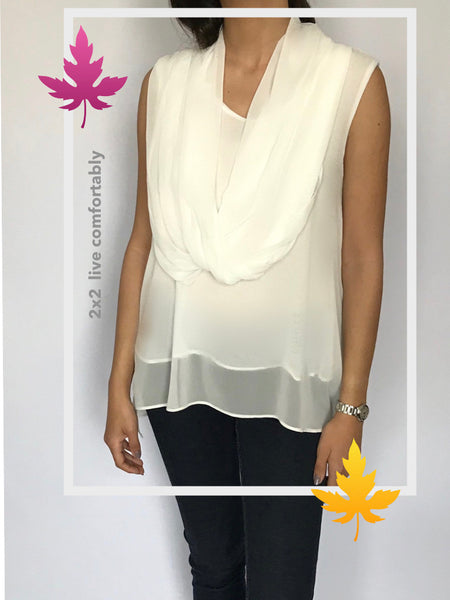 Chiffon Blouse with Scarf - Model 36