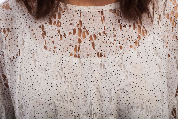 Dotted Lace Blouse - B1123
