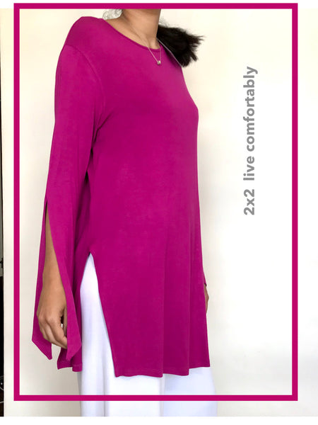 Long Viscose Lycra Top - Model 41