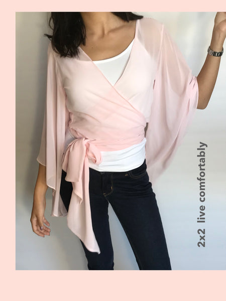 Chiffon Wrap Blouse - Model SH1