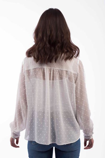 Fluffy Trim Blouse - B1146