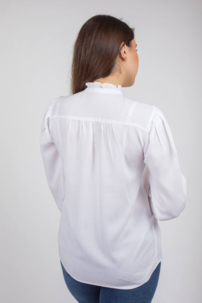 Viscose Puffy Sleeves Blouse - 110048