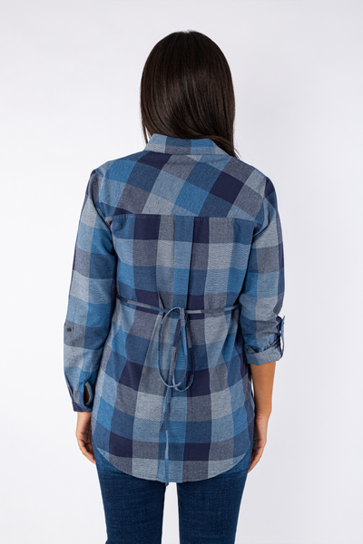 Cotton Checkered Blouse - 110016