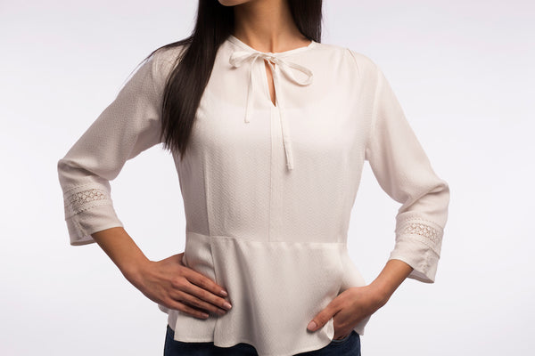 Slim Waist Blouse - B1108
