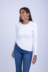 Side Ribbon Brushed Viscose MiltonTop - BTW8