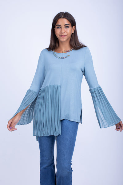 Viscose Lycra Pleated Top - W203
