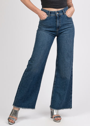 Wide Leg Cropped Jeans - 2176502
