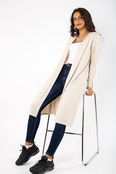 Basic Long Knitted Jacket - 140009