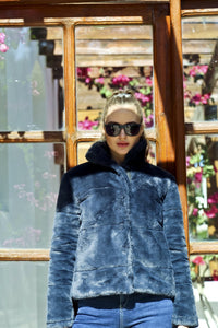 Heavy Quilted Fur Jacket - 150013