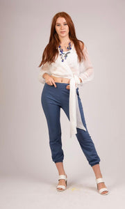 Croisee Top with Belt - S218