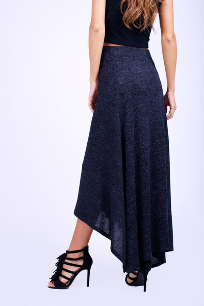 Elastic Waist Knitted Skirt-170001