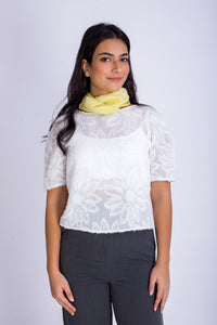 Half Sleeve Embroidered Top -110065