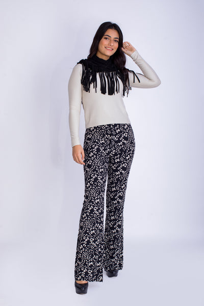 High Waist Printed Pants -120025