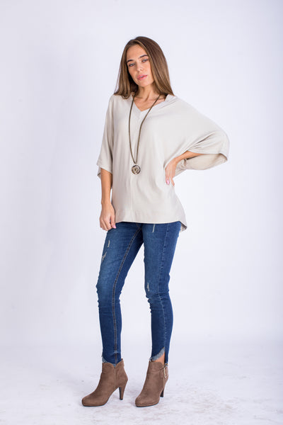 Free Style Brushed Viscose Milton Top - BTW9