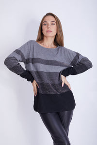 Lurex Striped Pullover -  130013