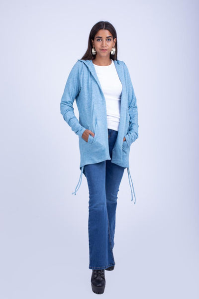 Knitted Jacket with Hood -140028