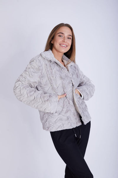 Fancy Fur Jacket with Snaps- 150009
